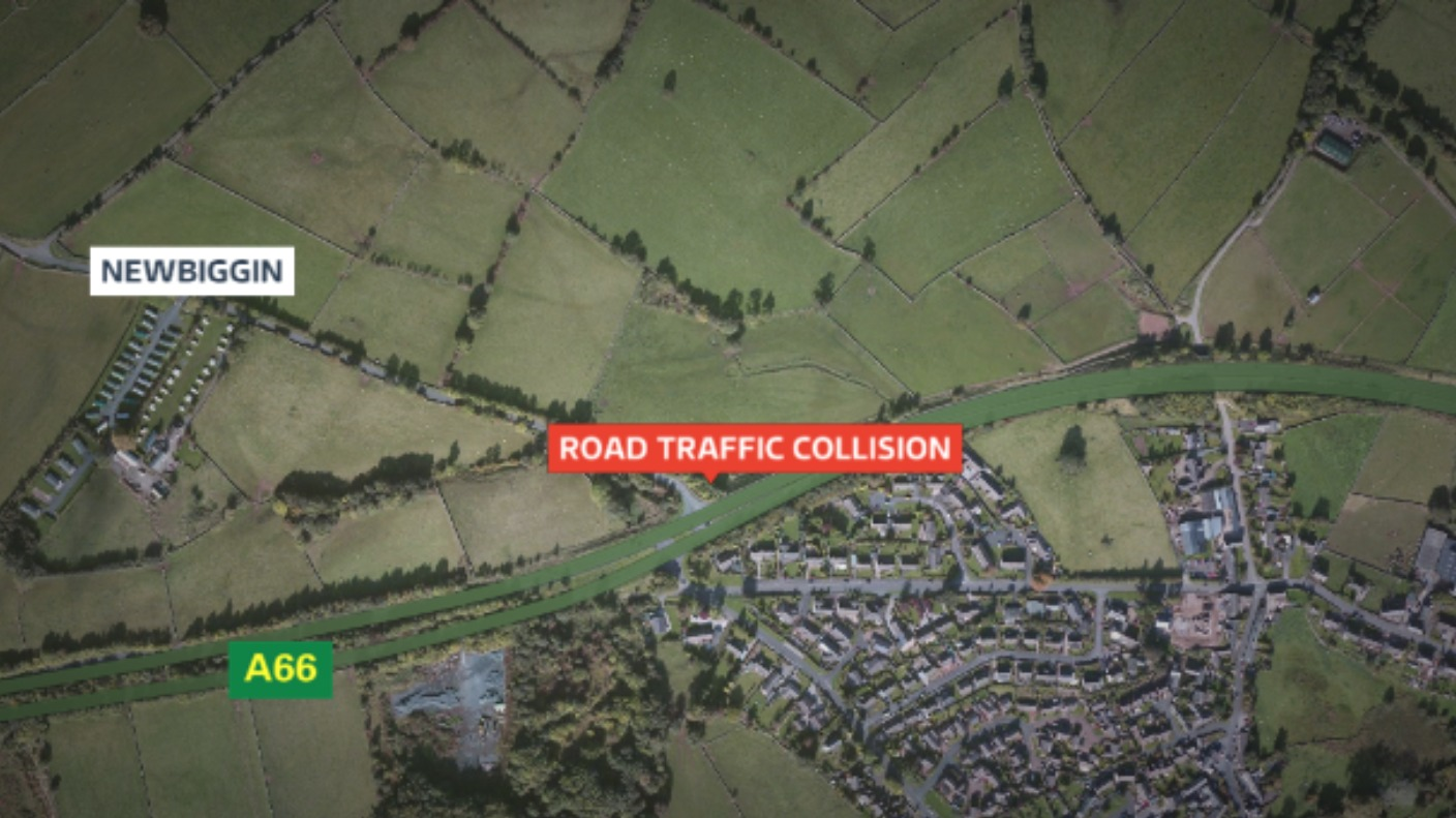 one vehicle collision on a66 near penrith border itv news. Black Bedroom Furniture Sets. Home Design Ideas