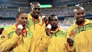 A doping case investigated Nesta Carter (second from right)