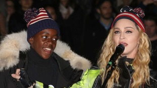 Madonna with her adopted son David.