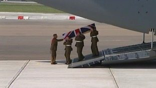 Captain Rupert Bowers repatriation at RAF Brize Norton