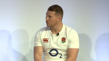 England and Northampton Saints Dylan Hartley at today's Six Nations launch