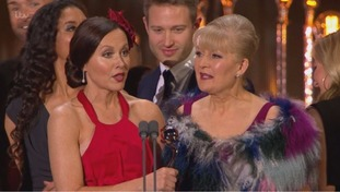 Amanda Mealing accepted the award on behalf of the Casualty cast.