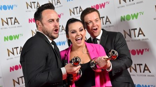 Ant, Dec and Scarlett Moffatt