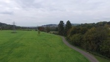 The site at Bathampton Meadows - which will have room for 1400 cars.