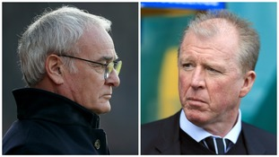 Claudio Ranieri (left), Steve McClaren (right)