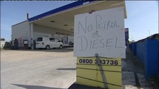No fuel sign