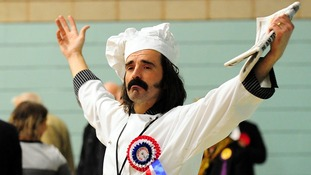 Corby candidate Mr Mozzarella