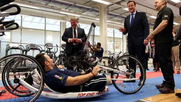 David Cameron at Help for Heroes recovery centre