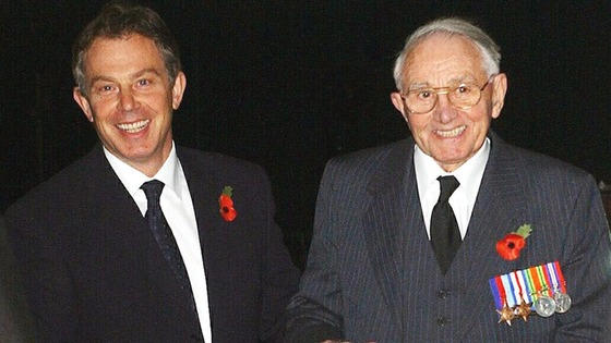 Tony Blair with his father Leo Blair.