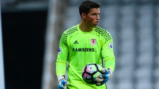 Joe Fryer will spend the rest of the season on loan from Middlesbrough
