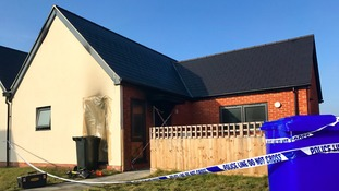 Pictures from the scene of a fatal fire in Suffolk.
