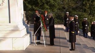 Therea May at Arlington Cemetery