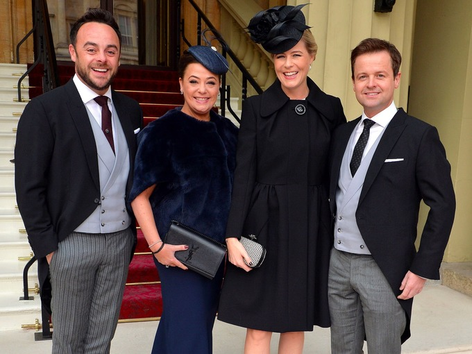 Ant with his wife Lisa and Dec with his wife Ali