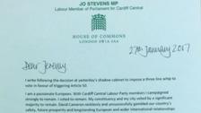 Stevens letter