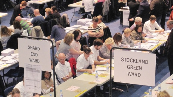The counting of votes starts in Birmingham's International Convention Centre for the Police and Crime Commissioner election