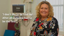Sharon Branley was discharged from the hospital's new Orthopaedics centre on the same day as having a full knee replacement.