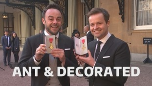 Ant and Dec who picked up their OBEs at Buckingham Palace today.