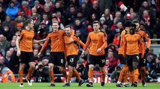 Wolverhampton Wanderers' Andreas Weimann celebrates scoring his side's second goal of the game