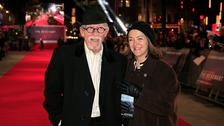 John Hurt and his wife Anwen Rees-Myers