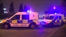 Police cordon around Trafford Park