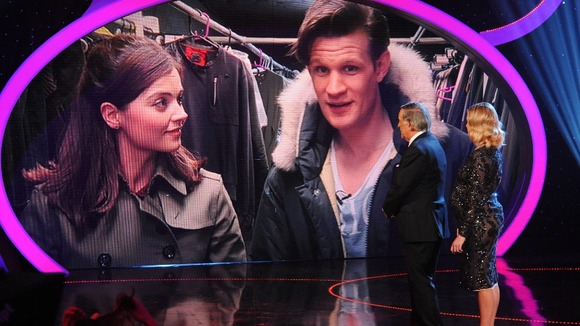Dr Who star Matt Smith with Jenna-Louise Coleman talk to the live studio.
