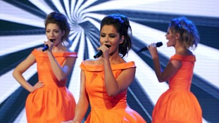 Nicola Roberts, Kimberley Walsh and Cheryl Cole of girlband Girls Aloud.