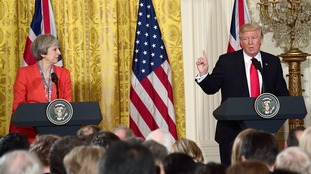 Theresa May visited Trump in Washinton DC on Friday.