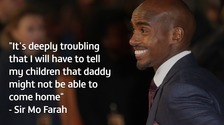 Distance runner Mo Farah was born in Somalia