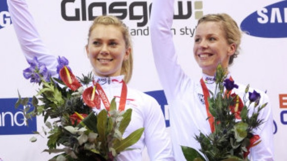 Jess Varnish (l) and Becky James
