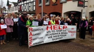 Campaigners in the centre of Stratford-upon-Avon
