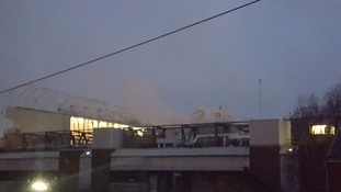 Fire at Manchester United's Old Trafford stadium