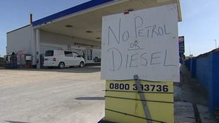 Half of petrol stations in Weymouth, Dorset were left without fuel after panic buying.