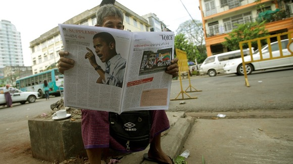 Obama makes the back pages ahead of his three-country tour through Asia.