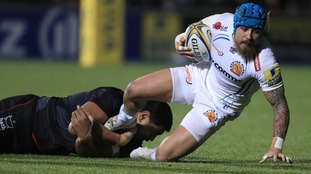 Exeter Chiefs winger loses trademark hairstyle