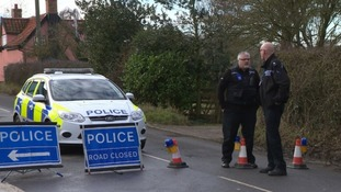 There was a large police presence in the usually quiet village of Crowfield.