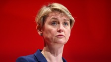 Yvette Cooper branded the state of accommodation for asylum seekers a 'disgrace'