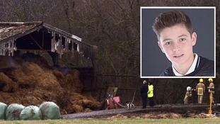 Family 'devastated' after body of missing teenager found after huge barn fire on country estate