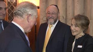 The prince meets Chief Rabbi Ephraim Mirvis