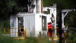 A test site for fracking in the UK.
