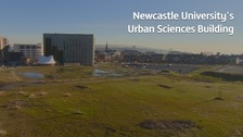 The site at Science Central where the Urban Sciences Building will be located.