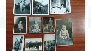 The old photographs were found in a Newcastle shopping centre.