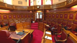 Inside Jersey's States chamber