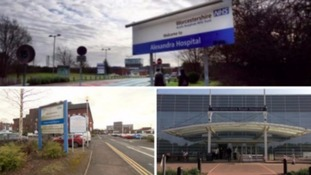 The three hospital sites affected