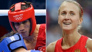 Turkish boxer Adem Kilicci and Russian discus thrower Vera Ganeeva
