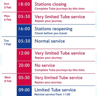 Everything you need to know about next week s tube strike london