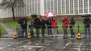 Fans queuing for funeral in Watford