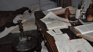 A recreation of Branwell's room