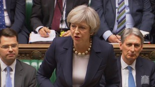 Prime Minister Theresa May responding in the House of Commons.