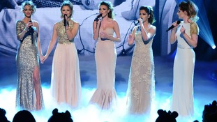 Girls Aloud live on stage during BBC Children In Need