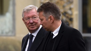 Former Manchester United manager Sir Alex Ferguson attended with his son Darren.
